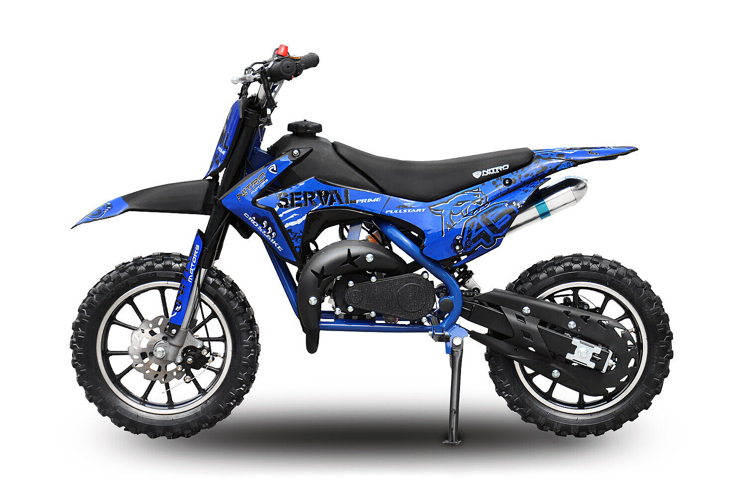 49cc Serval Prime Dirtbike 10/10 Bereifung Cross Bike  49cc Pocket Bike