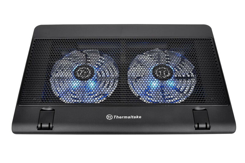 Thermaltake Massive 14x2 140mm Dual Fan Laptop Cooling Pad - Blue LED