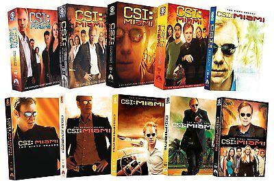 Csi Miami  Crime Scene Investigation Complete Series Seasons 1 10 Box Dvd Set S