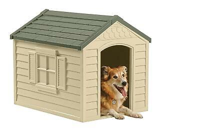 Dog House Outdoor Plastic Kennel Shelter Enclosure Pen Doghouse Puppy Cat Kitten
