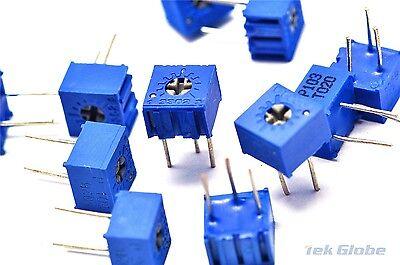 10pcs 500 Ohm 3362p-501 3362 P Trim Pot Trimmer Potentiometer