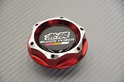 Red Chrome 2 Tone Engine Oil Filter Tank Cap Cover Aluminum For Acura Honda