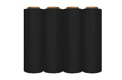 "18"" x 1500' 80 Ga 4 Rolls Pallet Wrap Stretch Film Hand Shrink Wrap 1500FT Black"