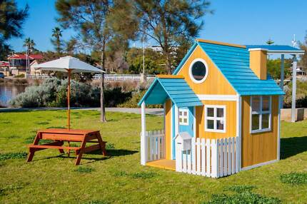Outdoor Wooden Timber Ground Level Cubby House Play House