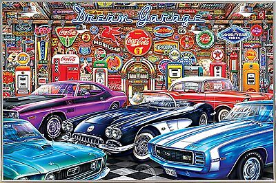 DREAM GARAGE - VINTAGE CARS POSTER 24x36 - 11275
