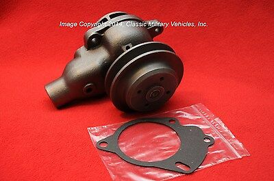 Willys Water Pump CJ2A CJ3A MB Ford GPW Jeep CJ5 CJ3B. New. 1 Groove Pulley.