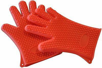 Resistant Oven Gloves Best Versatile Heat BBQ Grill Gloves Full Finger Pair of