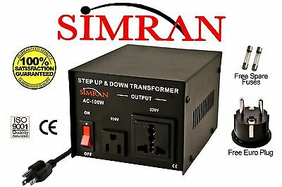 Delux 100 Watt 110v to 220v Transformer Voltage Converter 220 to 110 volt AC100W