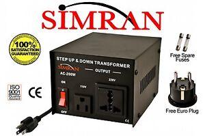 Delux 200 Watt 110v to 220v Transformer Voltage Converter 220 to 110 volt AC200W