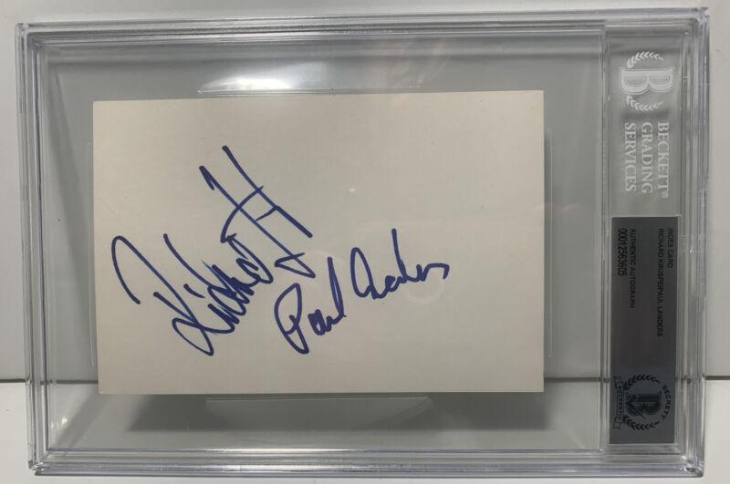 Rammstein Richard Kruspe & Paul Landers Signed 4x6 Beckett Certified Slabbed