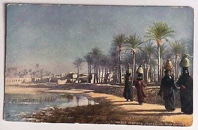 """Tuck's Oilette Picturesque Egypt Postcard Div Back """"Water Carriers Near Cairo"""""""