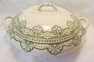 Henry Alcock & Co England Semi Porcelain EROS Round Covered Serving Bowl