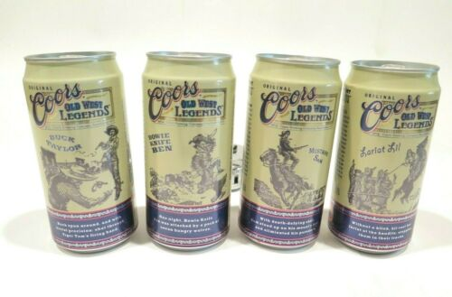 Coors Old West Legends Limited Edition Beer Cans