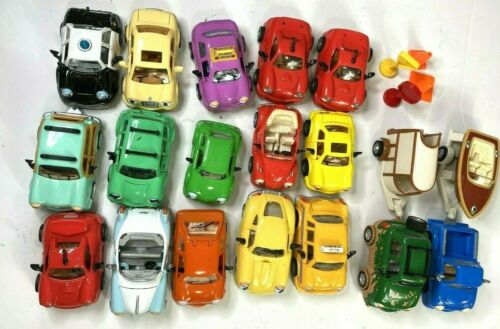 Chevron Cars Collection Lot of 17 Cars Trailors Stop Signs etc.