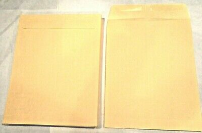 100 10x13 Manila Kraft Catalog Shipping Mailers Envelopes W Gummed Closure