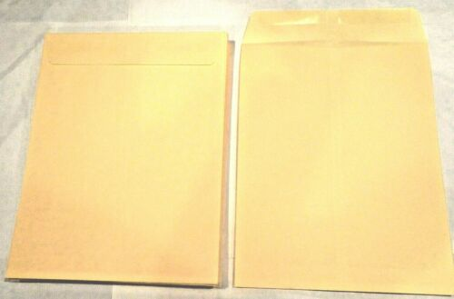 *100* 10X13 MANILA KRAFT CATALOG SHIPPING MAILERS ENVELOPES W/ GUMMED CLOSURE