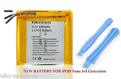Replacement internal battery for ipod Nano 3 3rd gen 3G Generation A1236 4GB 8GB 3rd Generation Replacement Battery