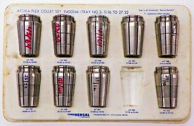 Universal Acura Flex Collet Set 1116 Thru 2732 Af-194 - Af-203 L071