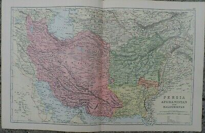 Antique map - Persia - printed paper 19th c - for framing - 35x54  cm