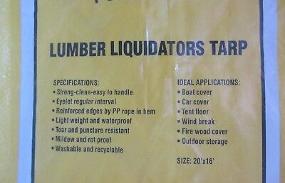 Hurricane Yellow Tarps 20 X 16 Tarp 320Sqft Yard Roof Vehicle Lumber Liquidators