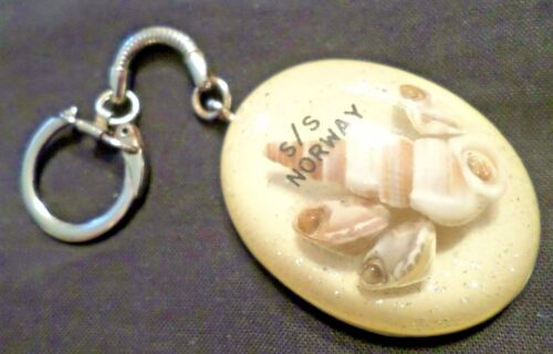 ss Norway . Norwegian Cruise Lines . Key Ring Cruise Ship Boat Shells ex France