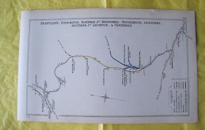 1912 RAILWAY CLEARING HOUSE Jnc. Diagram No.156 SHIREOAKS/BRANCLIFFE/THRYBERGH.