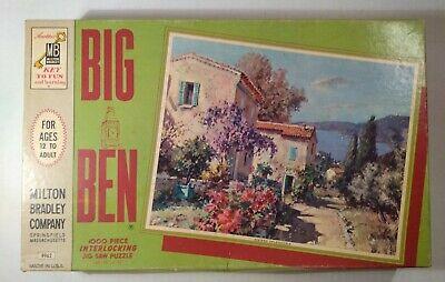 Vintage Milton Bradley Big Ben 1,000 Pcs Puzzle