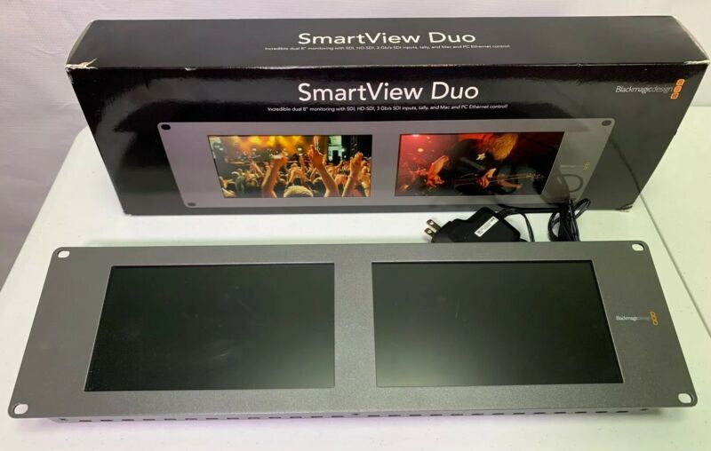 "Blackmagic Design SmartView Duo Rack Mount Dual 8"" LCD Monitors"