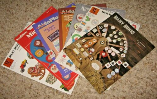 LOT OF 7~MINI DESIGNS~COUNTED CROSS STITCH BOOKLETS/LEAFLETS~GD/VGC~LOT #W