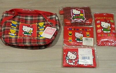 Vintage Tartan Hello Kitty Teddy Bag, Coin purse wallet & more new...