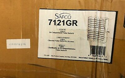 Safco 36 Compartment Value Sorter Gray 7121-gr