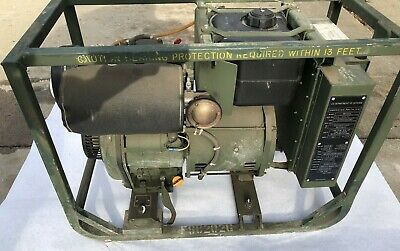 Military Diesel Generator Only 42 Hours Of Operation Free Shipping To Lower 48