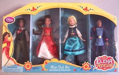"""Disney  Elena of Avalor Exclusive 5"""" Mini Doll 4-Pack Set New! Great Gift Idea!"""