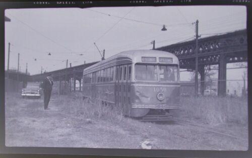 Orig 1940s? Brooklyn Trolley New York City NYC 616 Photo Negative Vintage