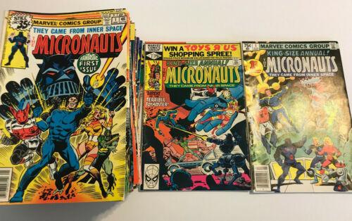 The Micronauts #1-59 Annual #1-2 Complete Set (Jan 1979, Marvel) Vintage Comics