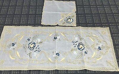 2 Handmade Tablecloths Coffee Table Runner Cloth set Armenian Embroidered](Coffee Table Cloth)