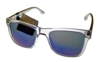 Converse Crystal Black Mens Sunglass Square Plastic, Blue Flash Lens (Cheap Plastic Lenses)
