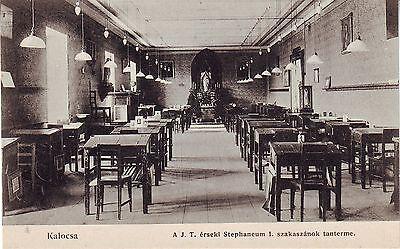 Hungary Kalocsa - Church Interior old unused postcard