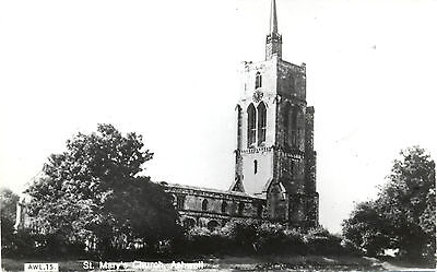Vintage Postcard St. Mary's Church, Ashwell, Hertfordshire