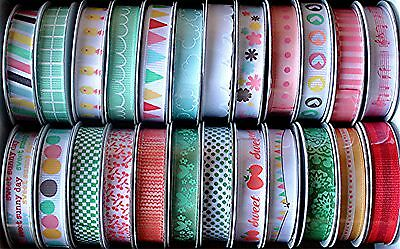 American Crafts 24 Spools Ribbon 32 Yards dear Lizzy $24 Value