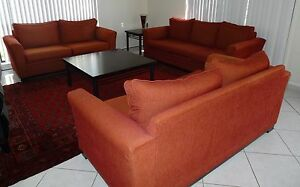 Four Piece Fabric Lounge and Coffee Table set Campbelltown Campbelltown Area Preview