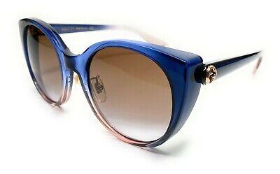 Gucci GG0369S 004 Blue/Multocolor Women Authentic Sunglasses 54-22-B4