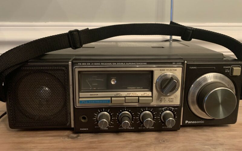 WoW !!! Panasonic Multi 31 Band Receiver Model No. RF-3100, Working Condition!!*