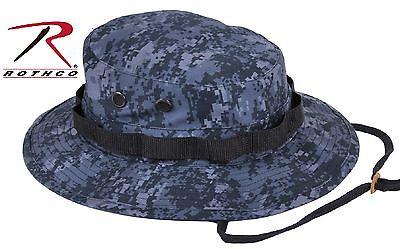 Midnight Blue Digital Camo Boonie Hat - Dark Navy & Black Camouflage Bucket Hats - Midnight Blue Camo
