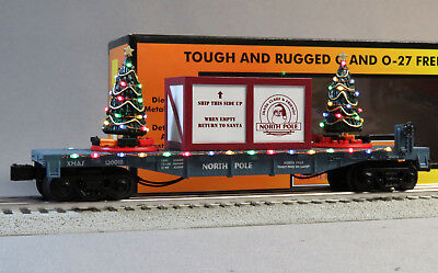 - MTH RAIL KING NORTH POLE LIGHTED CHRISTMAS TREES O GAUGE train BLUE 30-76736 NEW