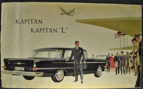 1960 Opel Kapitan L Sedan Catalog Sales Brochure Original 60