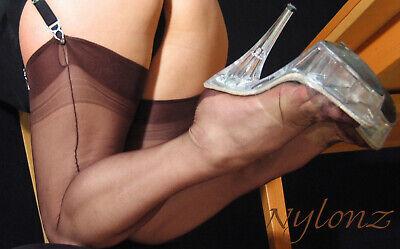 Eleganti Fully Fashioned Stockings - ESP CHOCOLATE CUBAN  imperfects from NYLONZ
