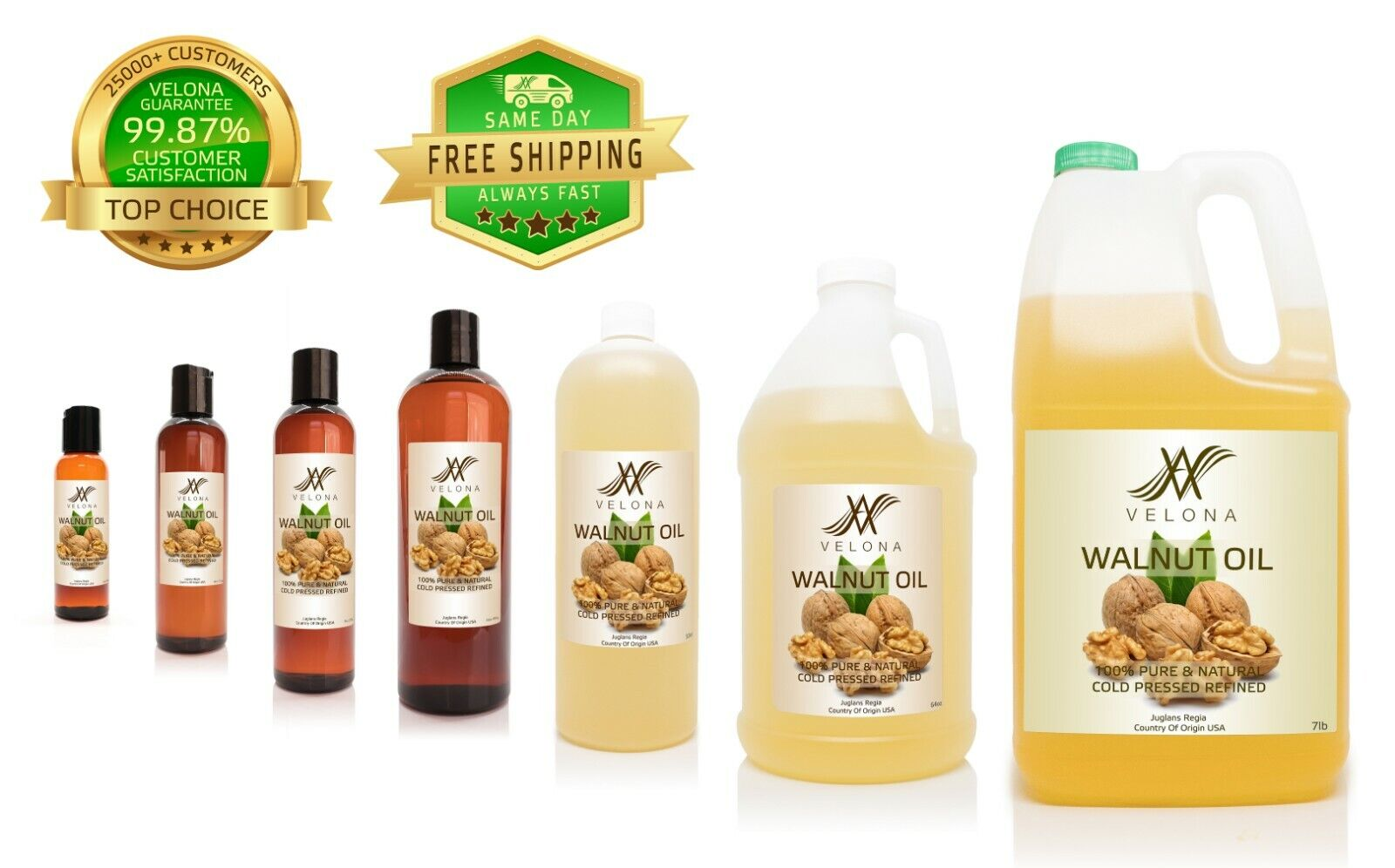WALNUT OIL 100% PURE & NATURAL REFINED PURE VELONA Candle Making & Soap Making
