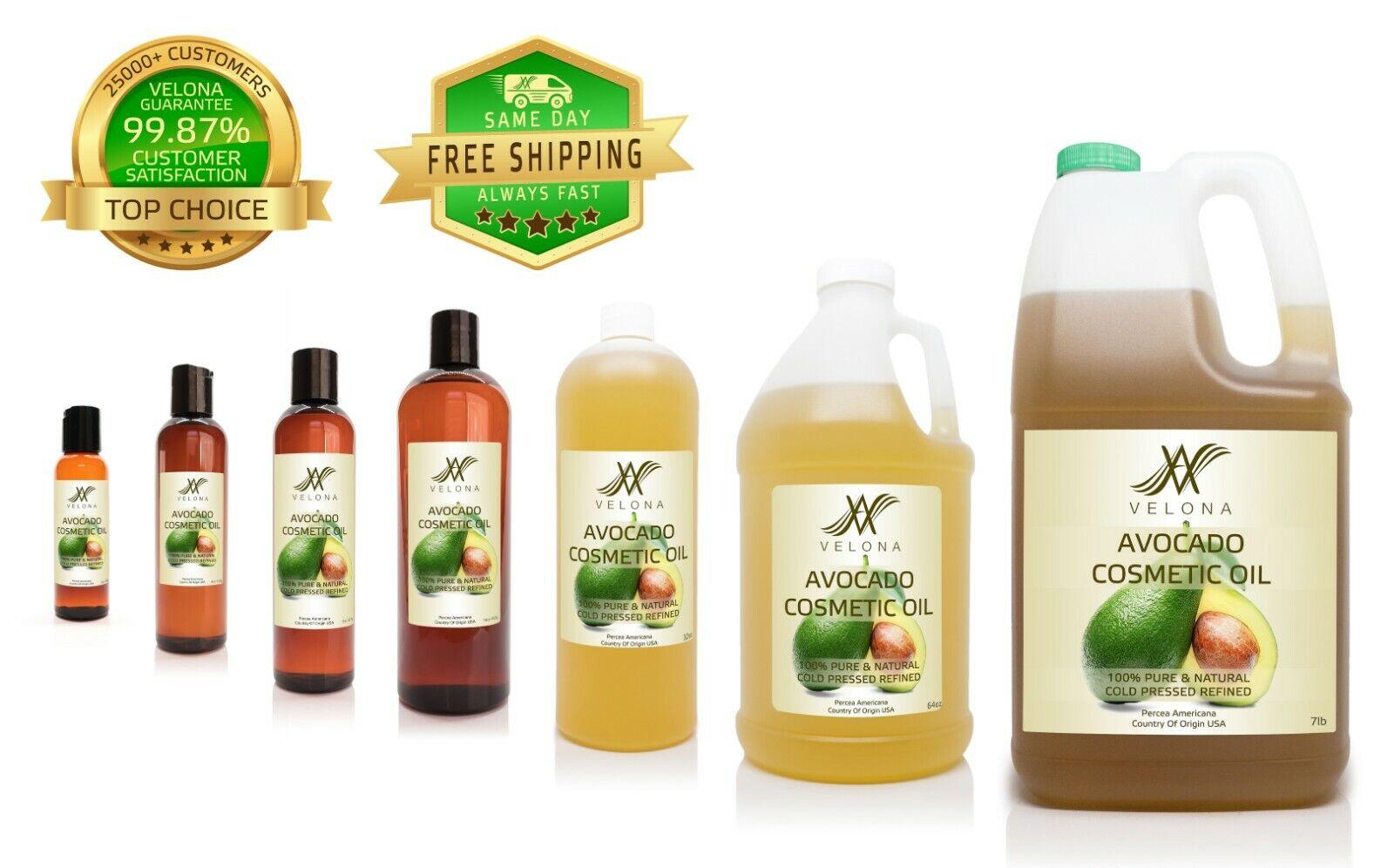 Avocado Cosmetic Oil 2oz-7lb REFINED NATURAL NATURAL Cold Pressed  PURE VELONA Health & Beauty
