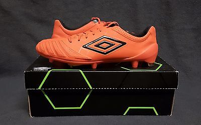 UMBRO UX Accuro Pro HG FG Soccer Football Cleats boots (US Sz 10) Orange/Black for sale  Shipping to Canada